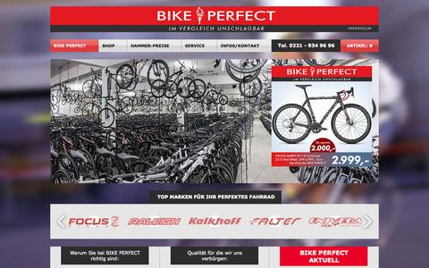 Screenshot of Home Page bike-perfect.com - Fahrräder von BIKE PERFECT - captured June 20, 2015