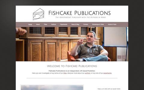 Screenshot of Home Page fishcakepublications.com - Fishcake Publications - captured Aug. 13, 2018
