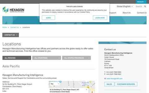 Screenshot of Locations Page hexagonmi.com - Locations - captured Nov. 30, 2016
