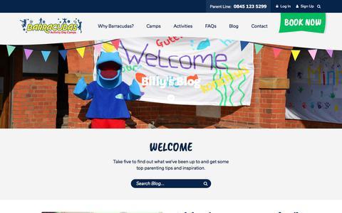 Screenshot of Blog barracudas.co.uk - Blog | Barracudas Activity Day Camps - captured Jan. 1, 2018