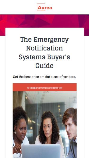 Emergency Notification Systems Buyer's Guide | Aurea