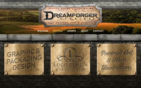 Screenshot of Services Page dreamforger.com - Services — Dreamforger Studios - captured Nov. 24, 2016