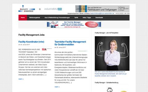 Screenshot of Home Page facility-stellenangebote.de - Facility Management Jobs | Facility Jobbörse - captured Jan. 24, 2017