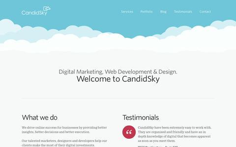 Screenshot of Home Page candidsky.com - CandidSky - A Digital Marketing & Web Development Agency in Manchester - captured Jan. 17, 2015