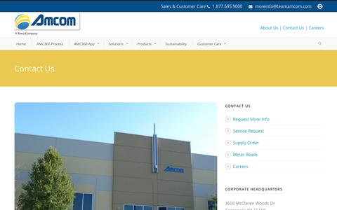 Screenshot of Contact Page teamamcom.com - Amcom  Contact Us - Amcom - captured Oct. 3, 2018