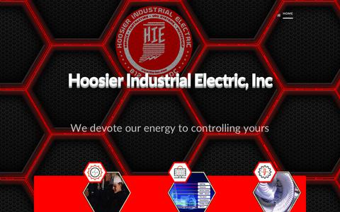 Screenshot of Home Page hie-inc.com - Home | Hoosier Industrial Electric - captured Sept. 29, 2018