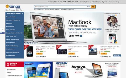 Screenshot of Home Page konga.com - Online Shopping | Buy Phones, Computers, Fashion | Konga Nigeria - captured Sept. 16, 2014
