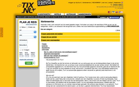 Screenshot of Privacy Page tix.nl - Tix.nl, klantenservice, Privacyverklaring Tix.nl - captured Sept. 25, 2014