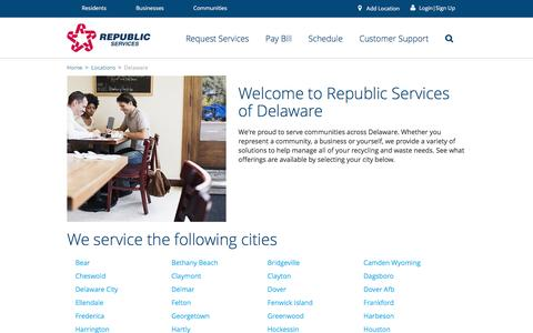 Recycling and Waste in Delaware - Republic Services