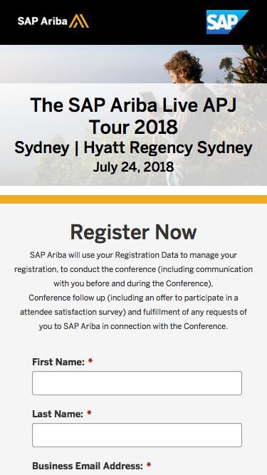 The SAP Ariba Live APJ Tour 2018