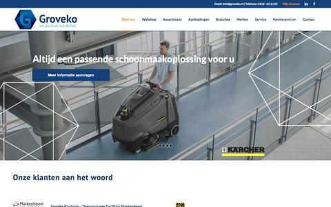 Screenshot of Testimonials Page groveko.nl - Testimonials » Groveko - captured Sept. 8, 2018