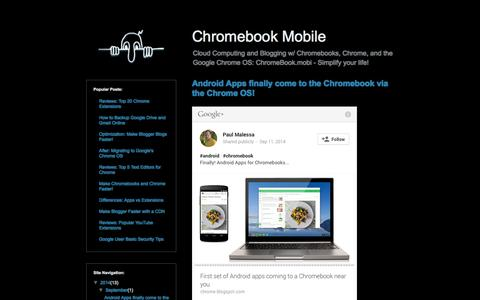 Screenshot of Home Page chromebook.mobi - Chromebook Mobile - captured Oct. 2, 2014