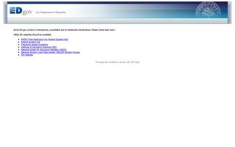 Screenshot of Home Page ed.gov captured Jan. 13, 2017