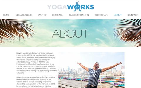 Screenshot of About Page yogaworks.co.za - Yoga Works | Yoga Johannesburg - captured Oct. 18, 2018