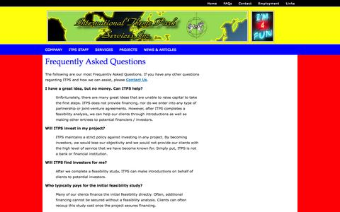 Screenshot of FAQ Page interthemepark.com - Frequently Asked Questions The f - captured Oct. 6, 2014