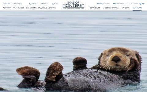 Screenshot of Team Page innsofmonterey.com - Our Monterey, CA Hotel Management Team - Inns of Moneterey - captured Aug. 5, 2016