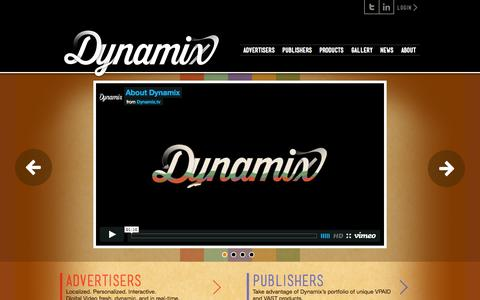 Screenshot of Home Page dynamix.tv - Dynamix - captured Sept. 15, 2014