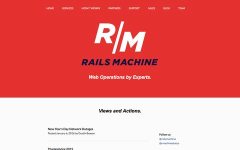 Screenshot of Blog railsmachine.com - Rails Machine - captured Jan. 18, 2016