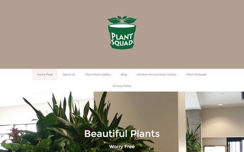 Screenshot of Home Page plantsquad.com - Home Page - captured Dec. 10, 2015