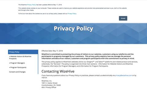 Privacy Policy | WizeHive