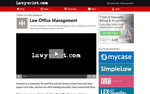 Screenshot of Team Page lawyerist.com - Law Office Management | Lawyerist - captured Jan. 18, 2019