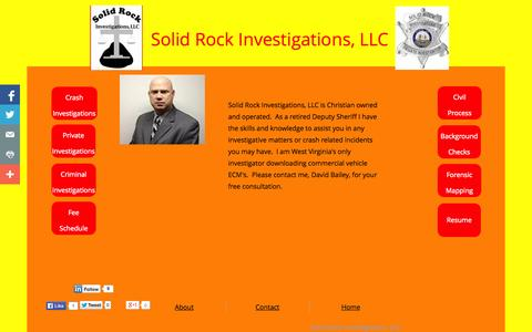 Screenshot of About Page solidrockinvestigations.com - Solid Rock Investigations About - captured Oct. 7, 2014