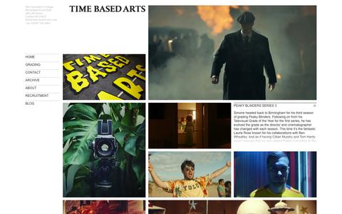 Screenshot of Home Page time-based-arts.com - Time Based Arts - captured May 30, 2016