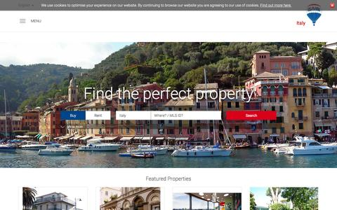 Screenshot of Home Page remax.it - RE/MAX Italy - captured Oct. 15, 2015