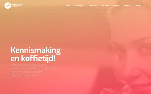Screenshot of Contact Page packiejan.nl - Contact – Packiejan Design Studio - captured Sept. 26, 2018
