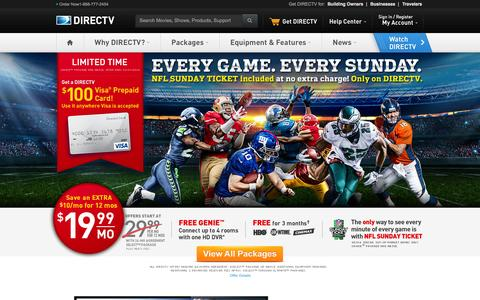 DIRECTV - #1 Satellite TV - Beats Cable TV - 1-855-802-3473