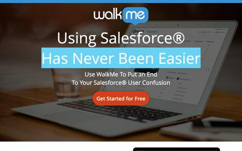 Screenshot of Landing Page walkme.com - Using Salesforce® Use WalkMe To Put an End<br /> To Your Salesforce® User Confusion - captured March 21, 2016