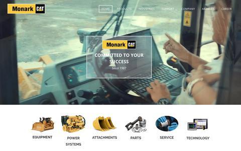 Screenshot of Home Page monark-cat.com - Monark Equipment - Cat® Equipment - Caterpillar Dealer - captured Oct. 20, 2019
