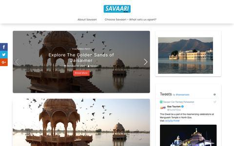 Travel begins with Savaari -