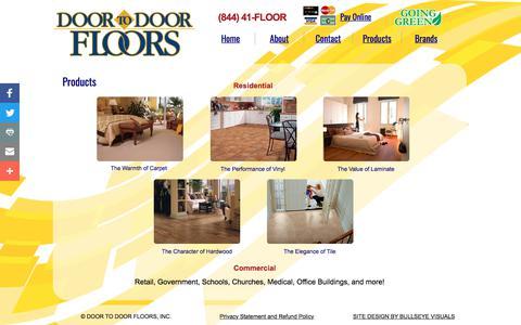 Screenshot of Products Page doortodoorfloors.com - DOOR TO DOOR FLOORS - Flooring Products, Commercial Carpet, Stainmaster Carpet - captured June 3, 2017