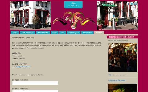 Screenshot of Contact Page guldenvlies.nl - Gulden Vlies - captured Oct. 8, 2014