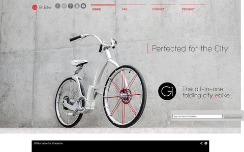 Screenshot of Home Page gibike.com - The Gi Bike - captured Oct. 5, 2014