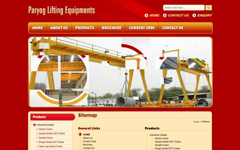 Screenshot of Site Map Page paryoglifting.in - Site Map - Paryog Lifting Equipments - captured July 9, 2017