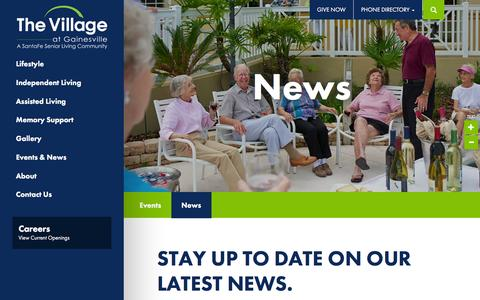 Screenshot of Press Page thevillageonline.com - News | The Village at Gainesville - captured Feb. 15, 2016