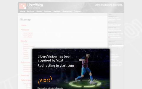 Screenshot of Site Map Page liberovision.com - LiberoVision - Sports Broadcasting. Redefined. - captured Oct. 2, 2014
