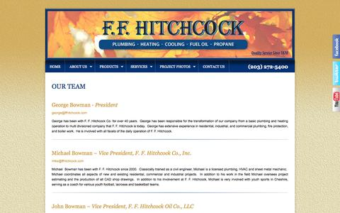 Screenshot of Team Page ffhitchcock.com - OUR TEAM - FF Hitchcock - captured Oct. 4, 2014