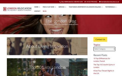Screenshot of Blog londonrelocationservices.com - BLOG | London Relocation Services - captured Nov. 13, 2016