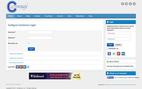 Screenshot of Login Page config.com - Configure Commerce Login - captured Nov. 2, 2014