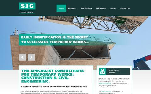 Screenshot of Home Page sjgtwltd.co.uk - Home - SJG Temporary Works - captured Sept. 30, 2018