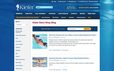 Screenshot of Blog kiefer.com captured Sept. 23, 2014