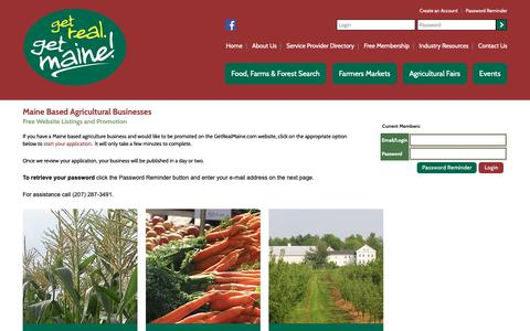 Screenshot of Login Page getrealmaine.com captured Oct. 21, 2018