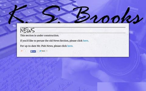 Screenshot of Press Page ksbrooks.com - News for Award-winning Author K.S. Brooks - captured Sept. 30, 2014