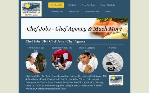 Screenshot of Home Page annestewart.org.uk - Chef Jobs UK | Chef Agency | Chef Jobs - captured Jan. 23, 2015