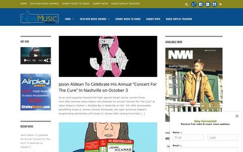 Screenshot of Press Page newmusicweekly.com - News - New Music Weekly - captured Sept. 22, 2018