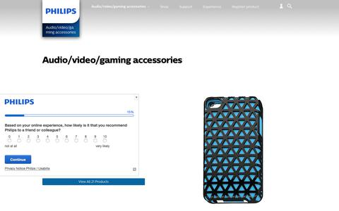 Screenshot of philips.com - Audio/video/gaming accessories. Discover the full range | Philips - captured Aug. 2, 2017