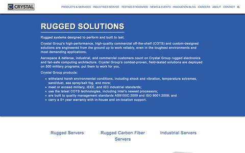 Screenshot of Products Page crystalrugged.com - Rugged Solutions | Crystal Group - captured Sept. 17, 2017